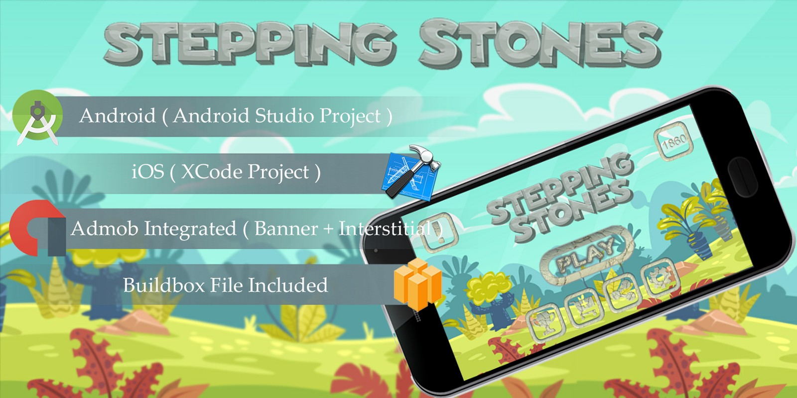 Stepping Stones - Buildbox Template