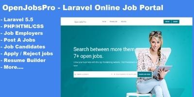 OpenJobsPro - Online Job Portal Script
