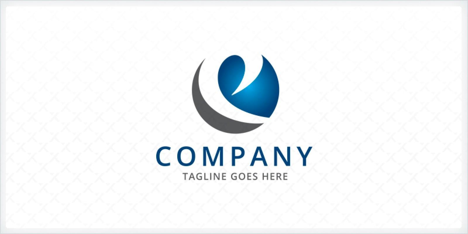 circle letter e logo template