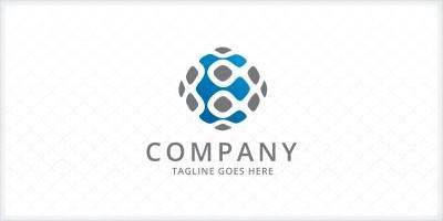 Letter E Pixel - Logo Template