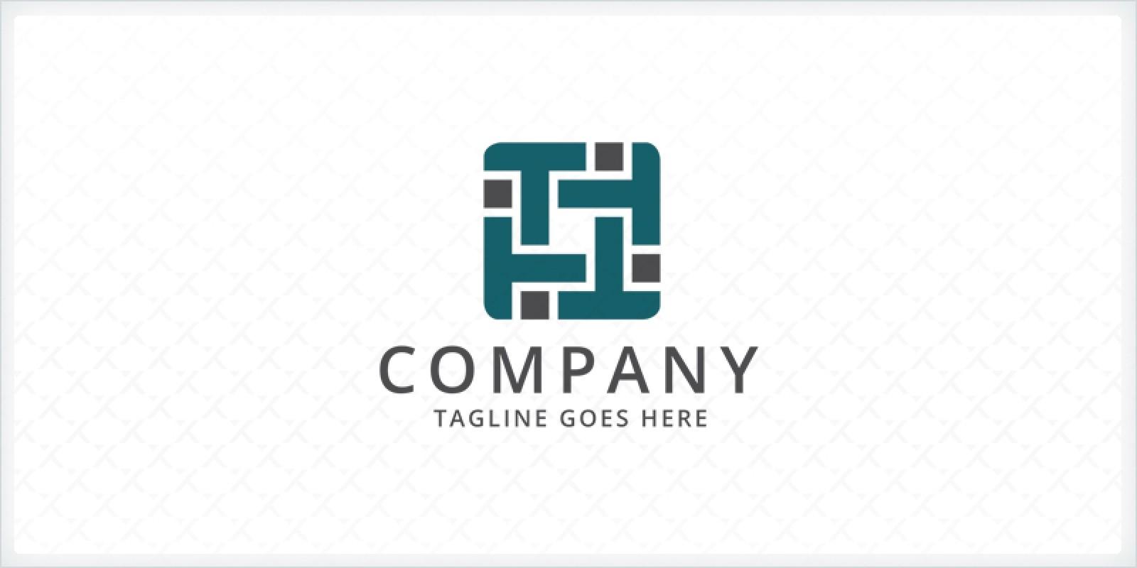 Letter T Webbing - Logo Template