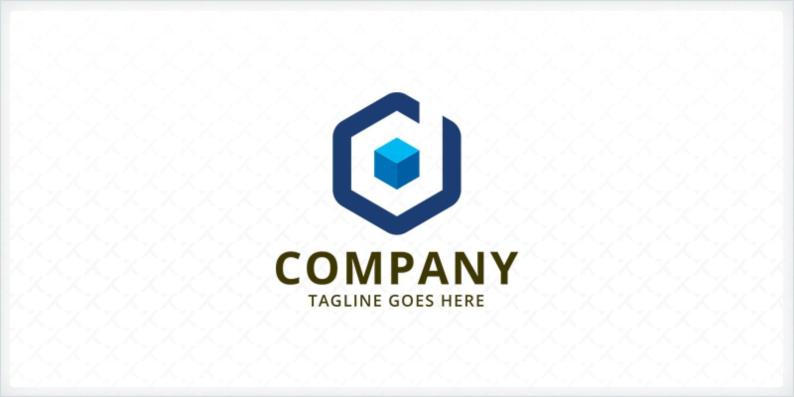 Letter D Cube - Logo Template