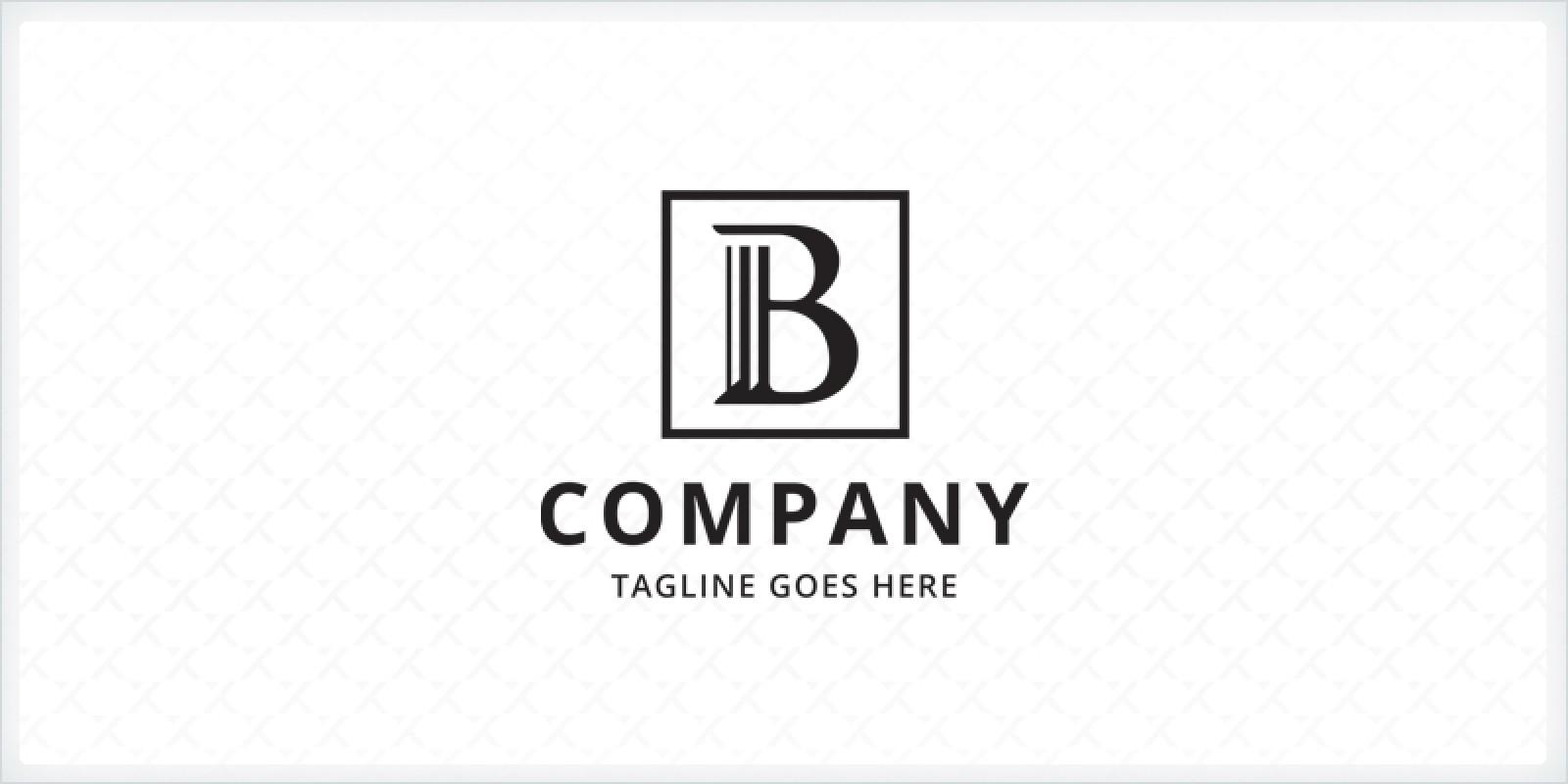 Letter B Pillar - Logo Template