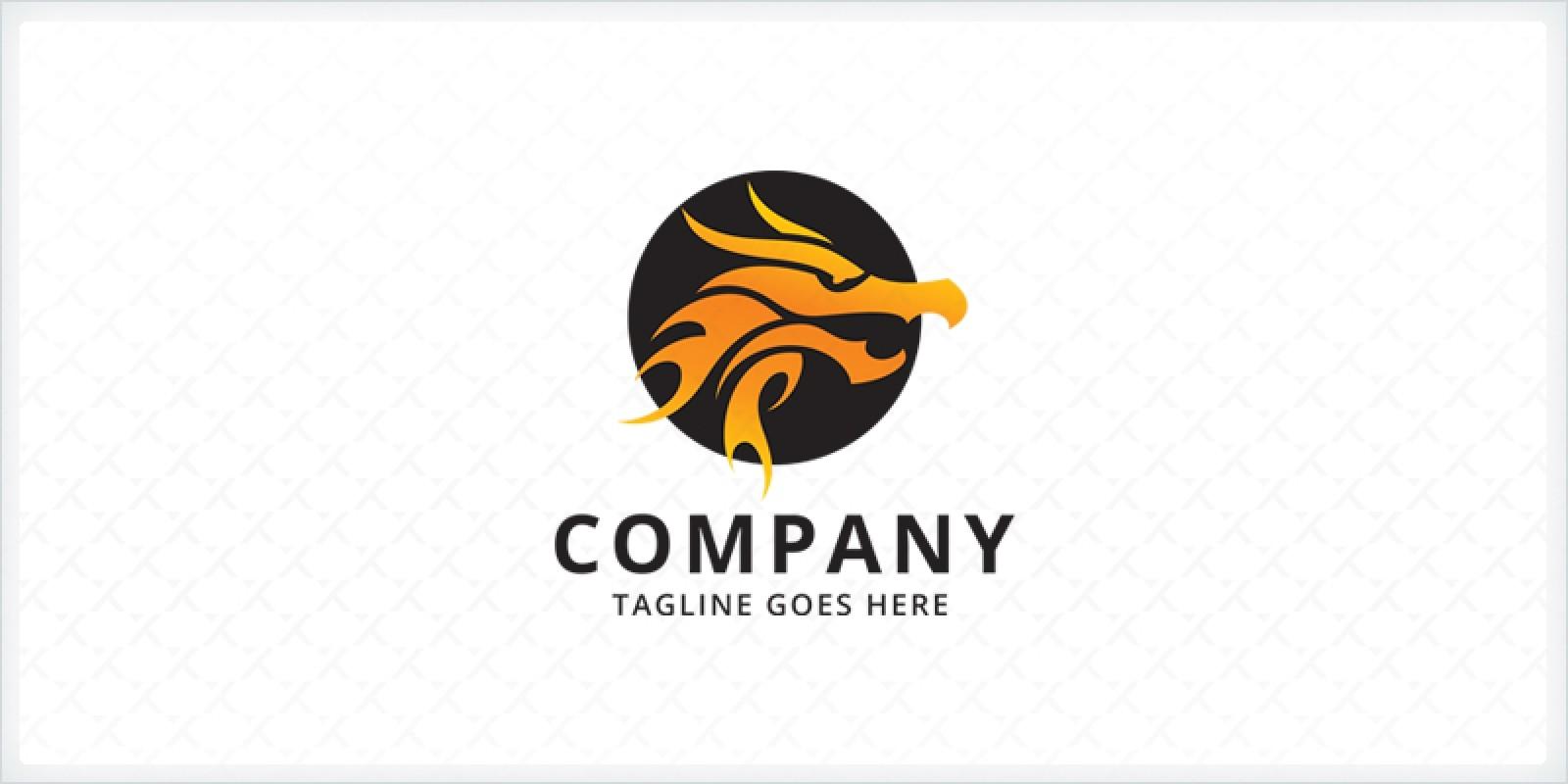 fire dragon logo template codester