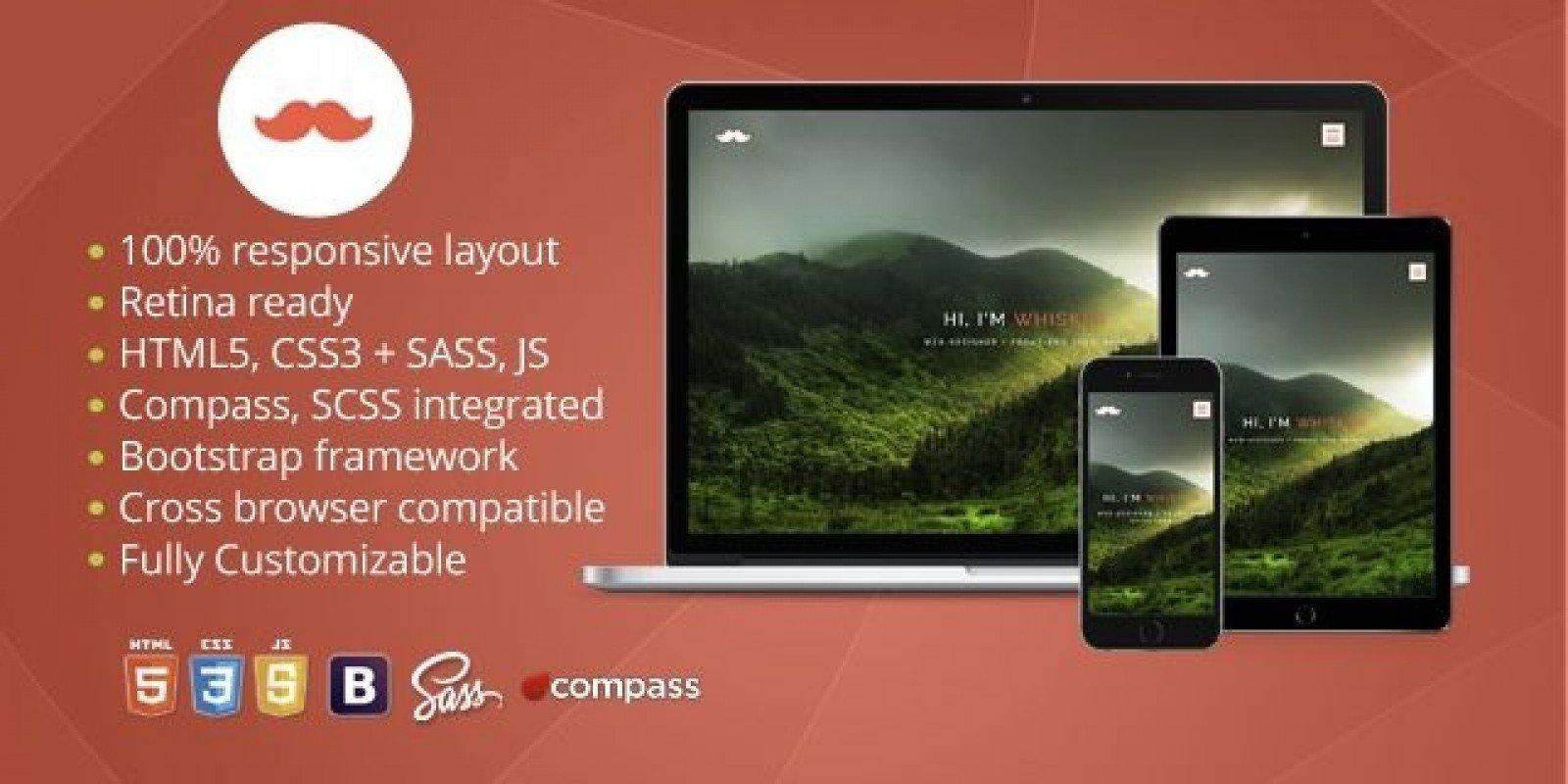 Whisker - Responsive HTML Portfolio Template