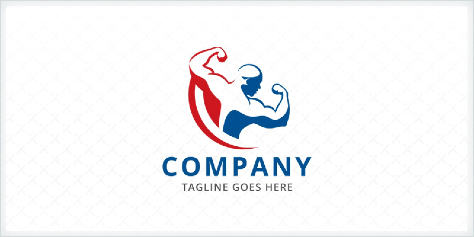 body builder logo template codester