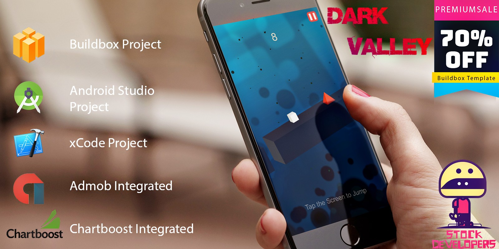Dark Valley - Buildbox Template