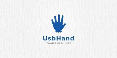 USB Hand Logo Template