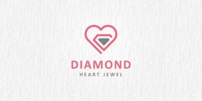 Diamond Heart - Logo Template