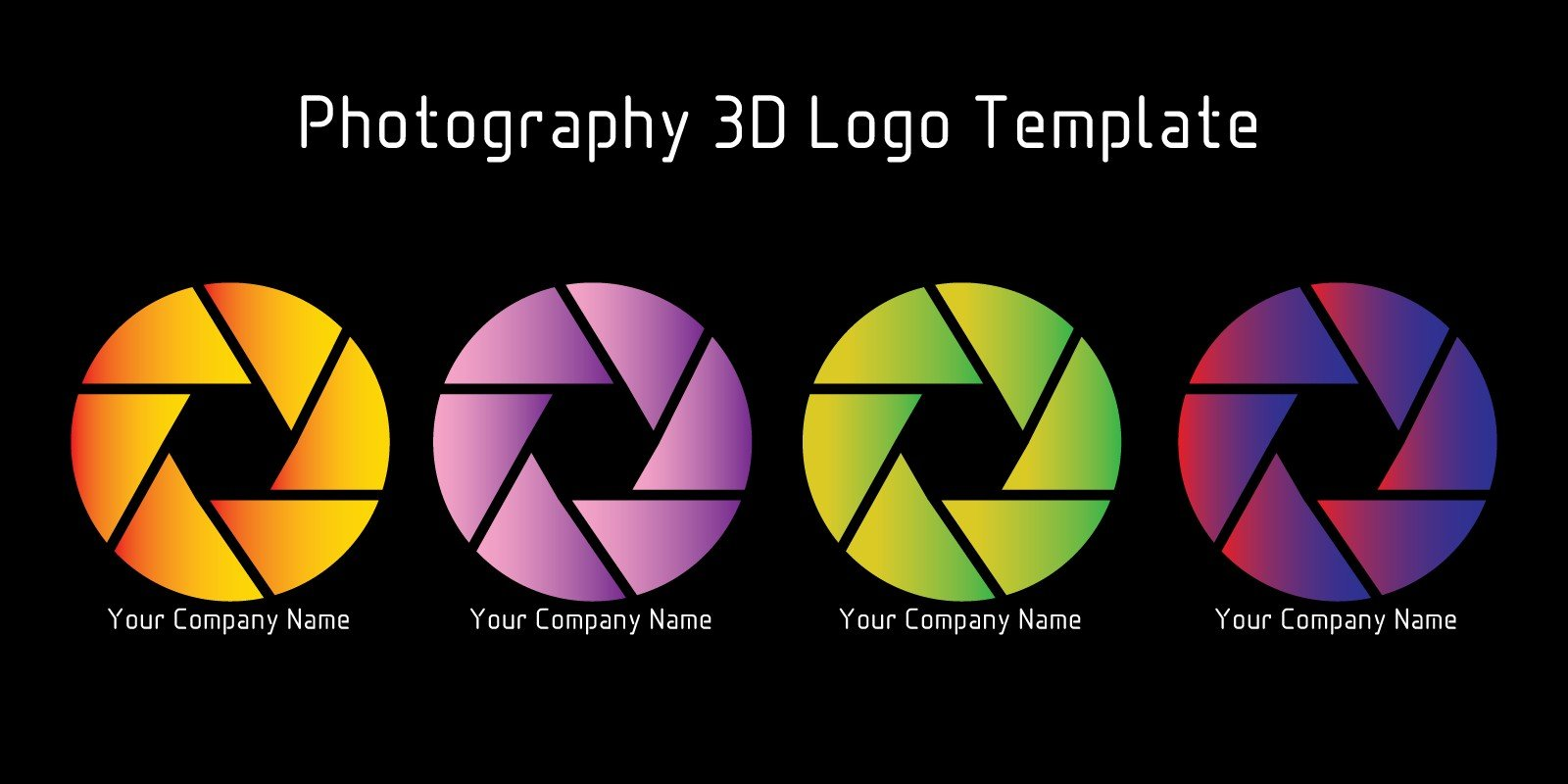 Photography 3D Logo Template