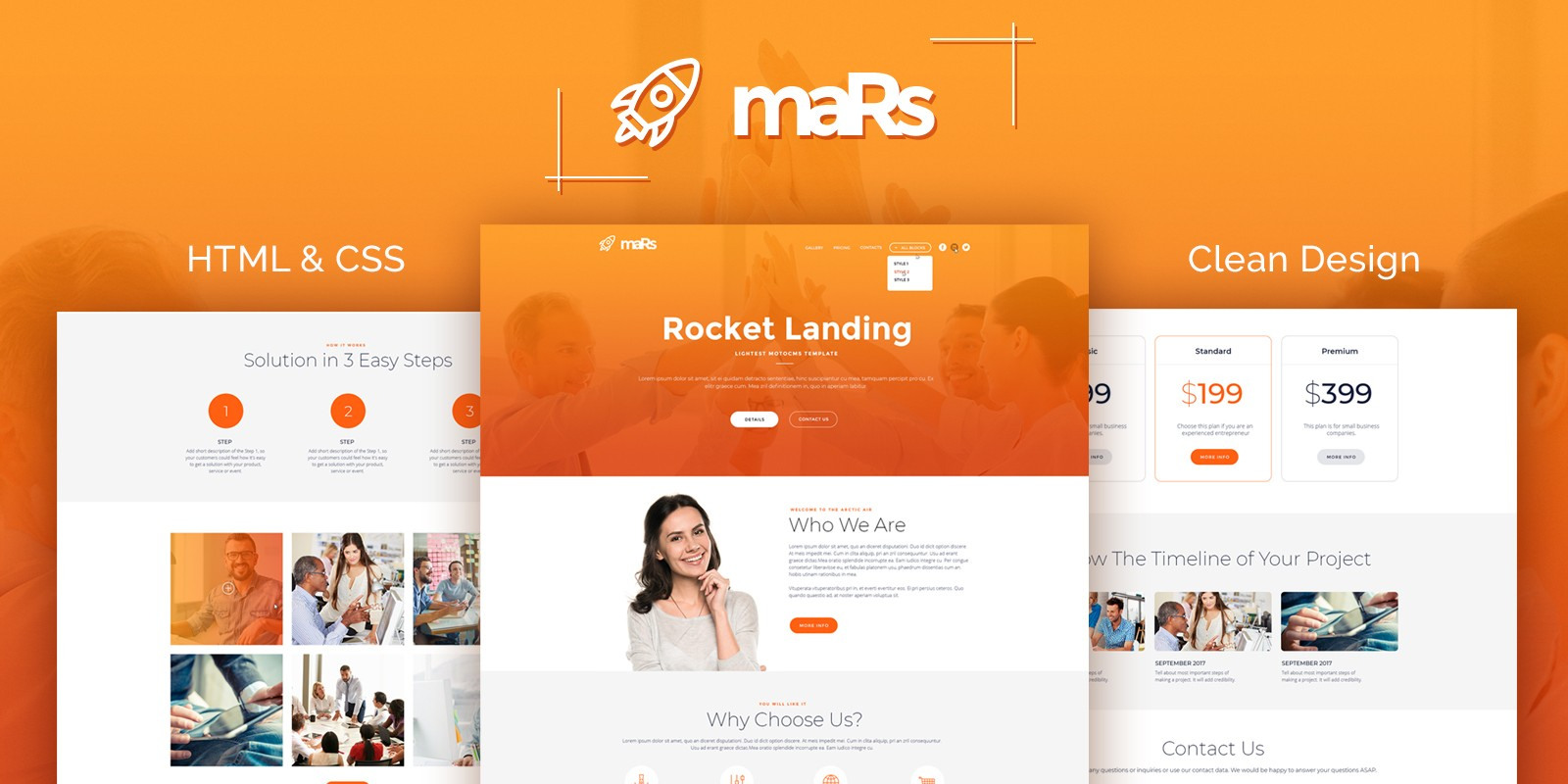 maRs Startup HTML Template - HTML Marketing & Landing Page Templates ...