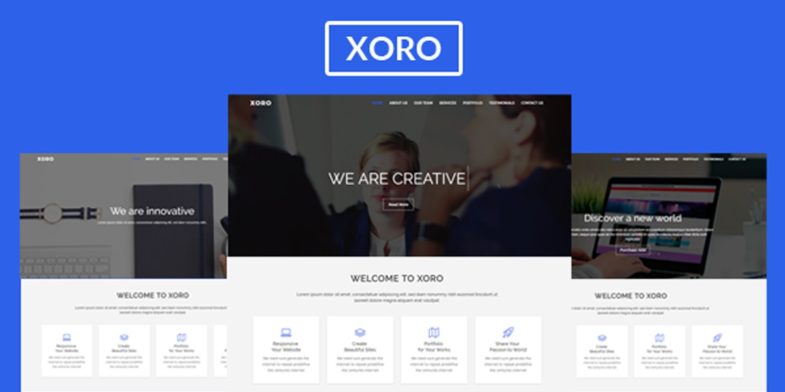 Xoro multipurpose html5 template business html website templates xoro multipurpose html5 template maxwellsz