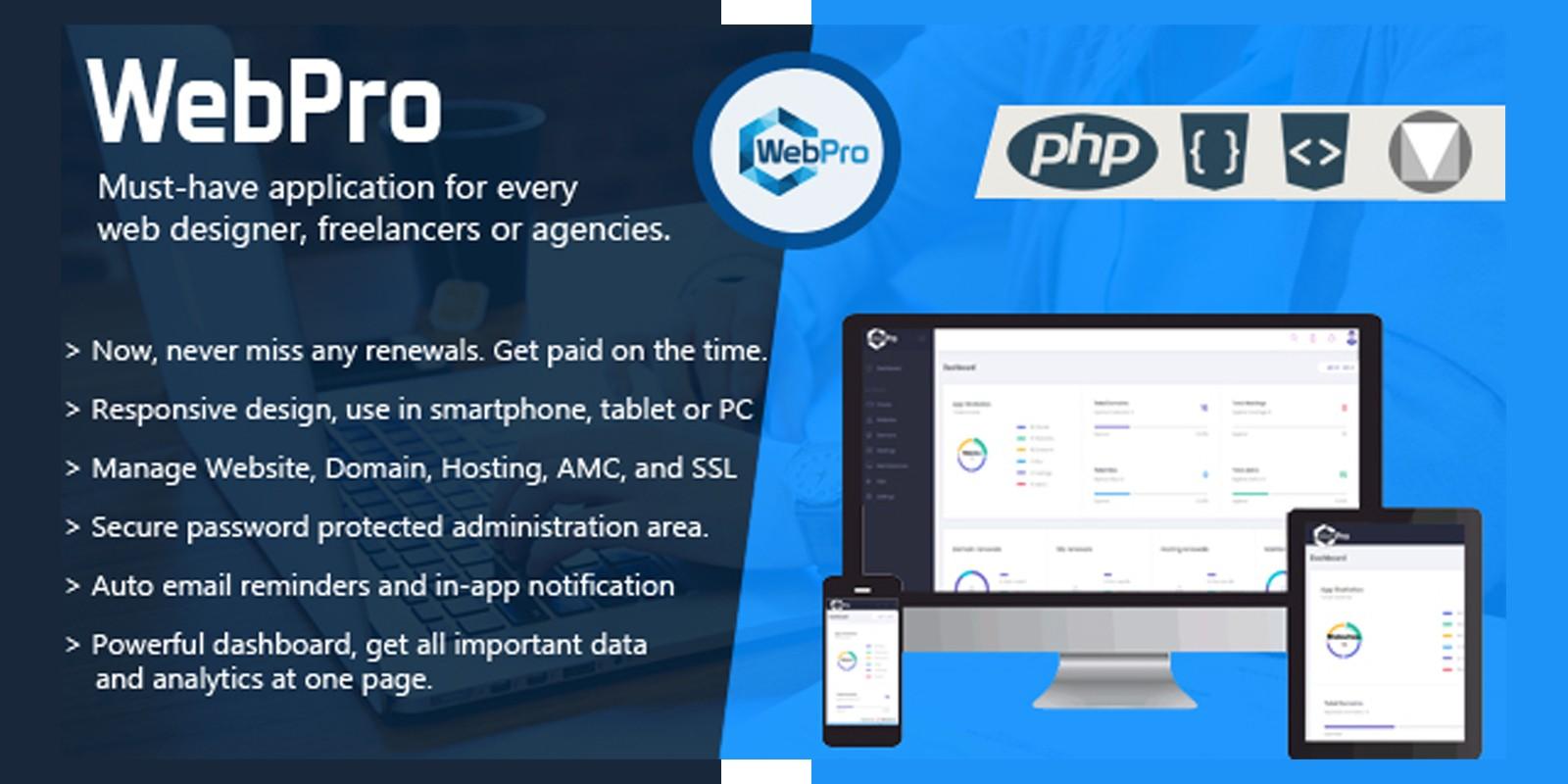 WebPro - Digital Services Management Application