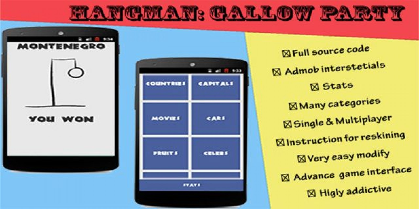 hangman with admob android source code codester