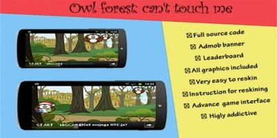 Owl Forest With Admob - Android Game Source Code