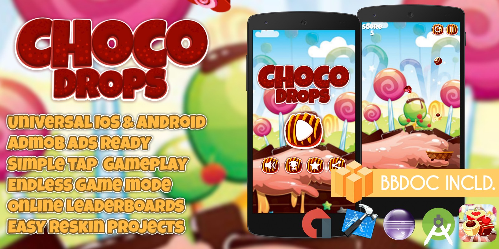 Choco Drops Buildbox Template