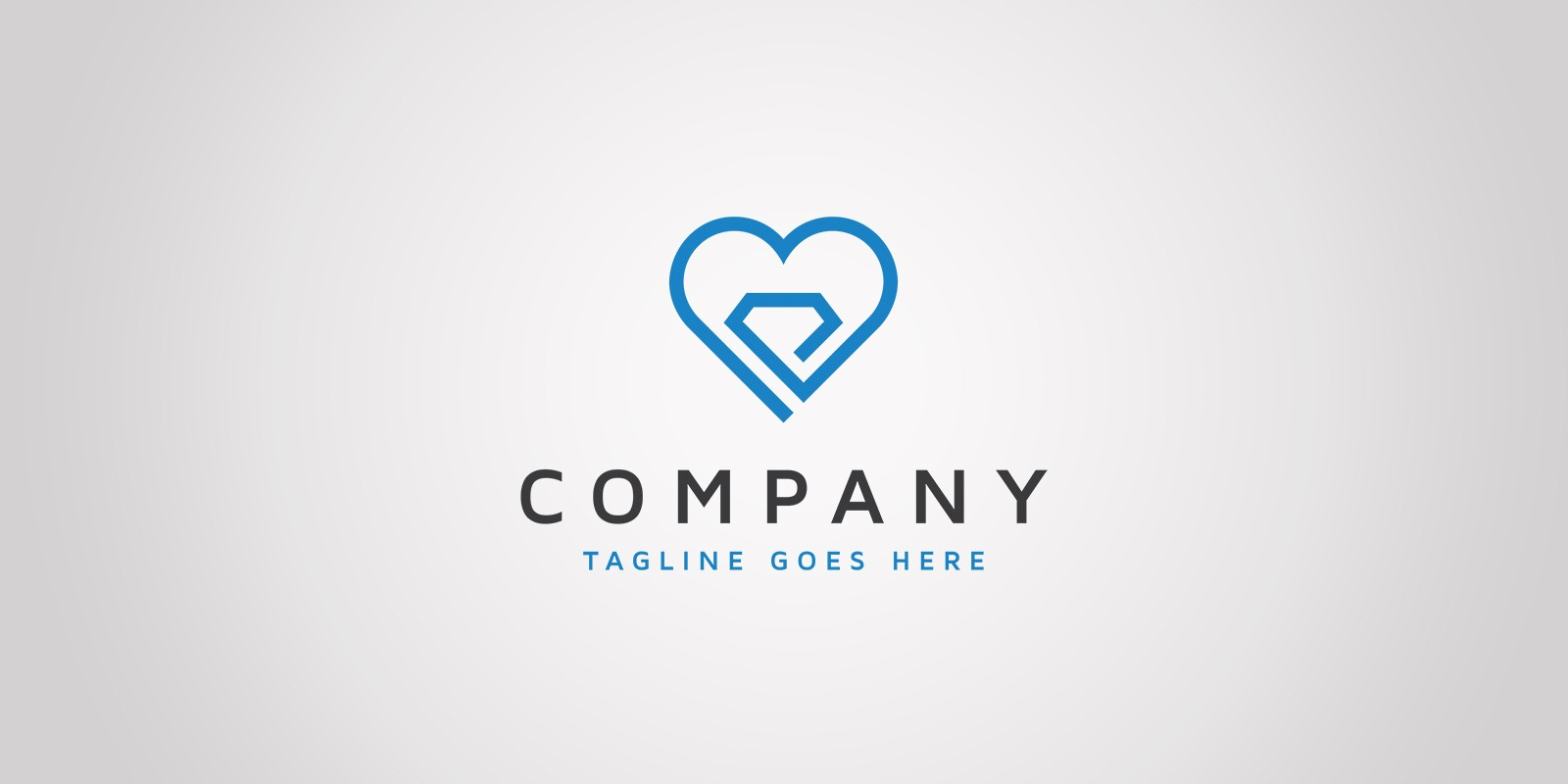Heart Diamond - Logo Template