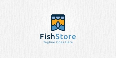 Fish Store - Logo Template