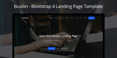 Busion - Responsive Bootstrap Landing Template