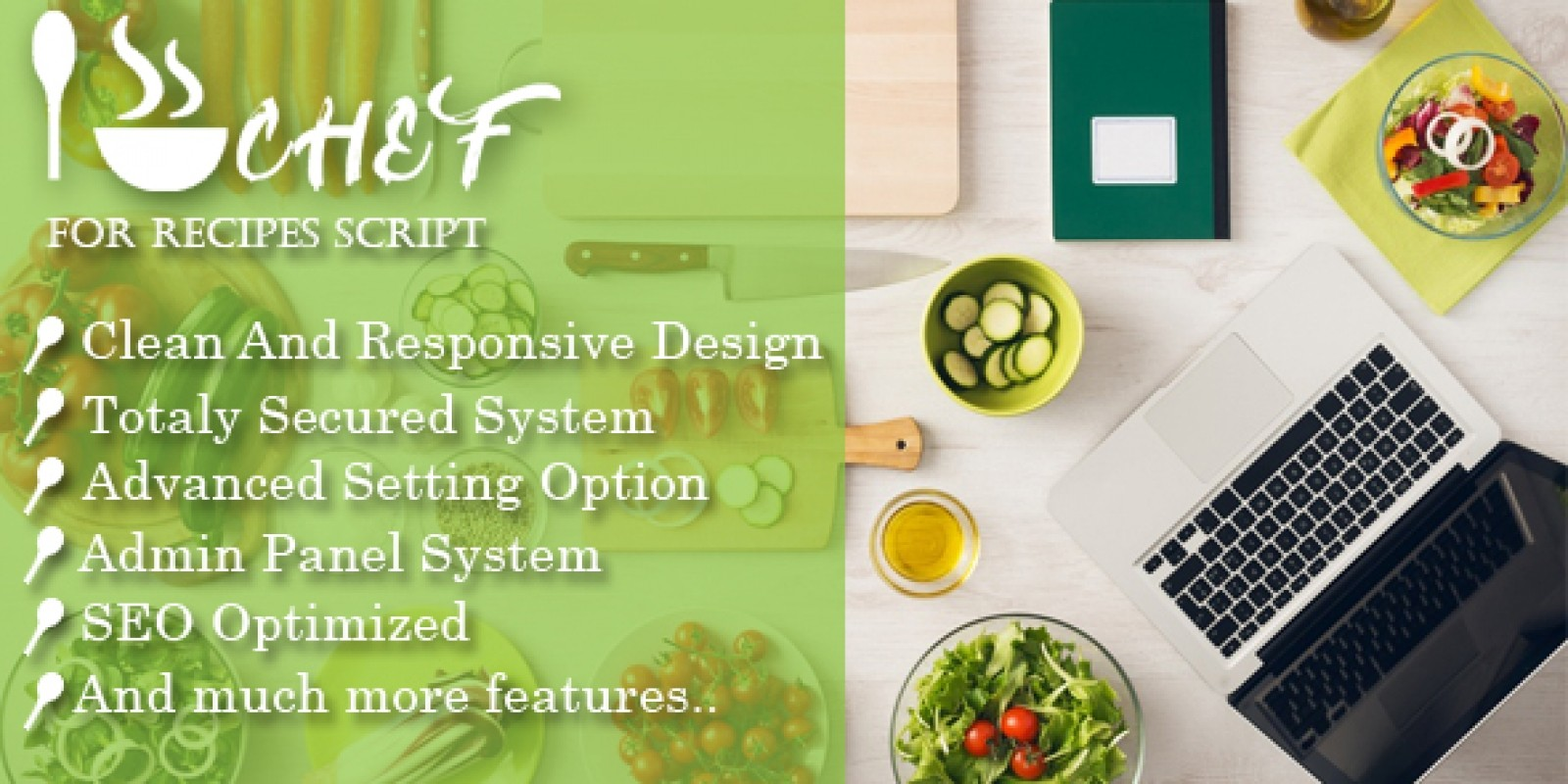 I-Chef - Recipes PHP Script