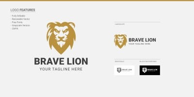 Brave Lion - Logo Template