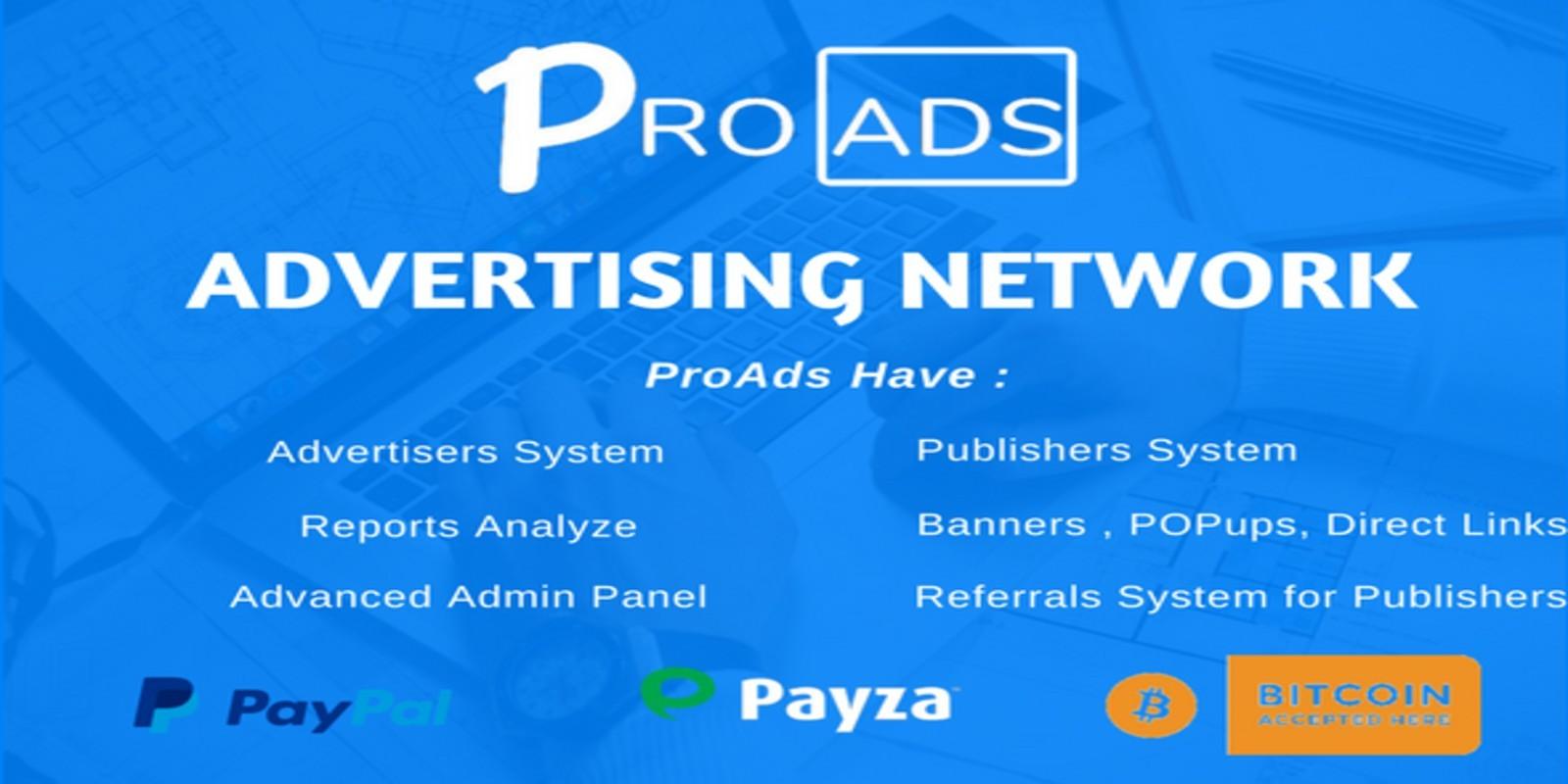 ProAds - Online Advertising Network Script v2 6 0 - Webmaster