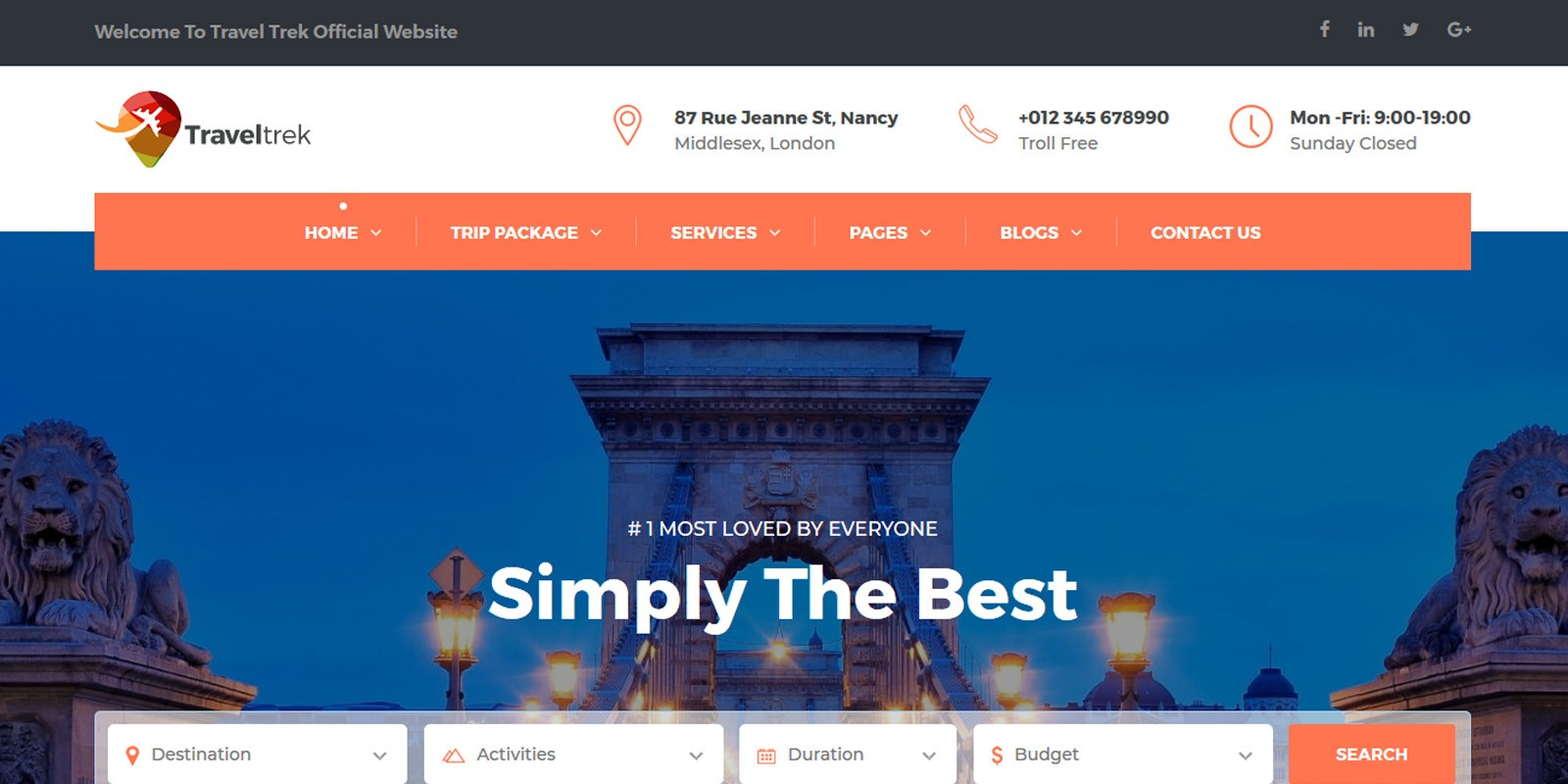 Traveltrek - Travel Agency HTML Template  e38153326aa