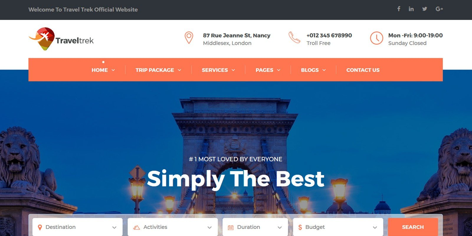 Travel Agency Website >> Traveltrek Travel Agency Html Template Codester