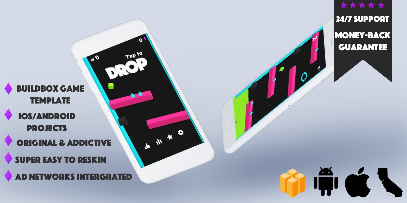 Drop Buildbox Template
