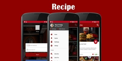 Recipe - Android Studio App UI Kit