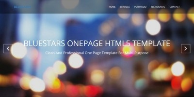 BlueStars - One Page Multi-Purpose HTML Template