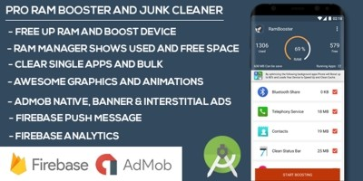 Premium Ram Booster And Junk Cleaner Android