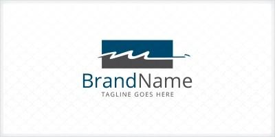 Letter M - Handwritten Initial logo