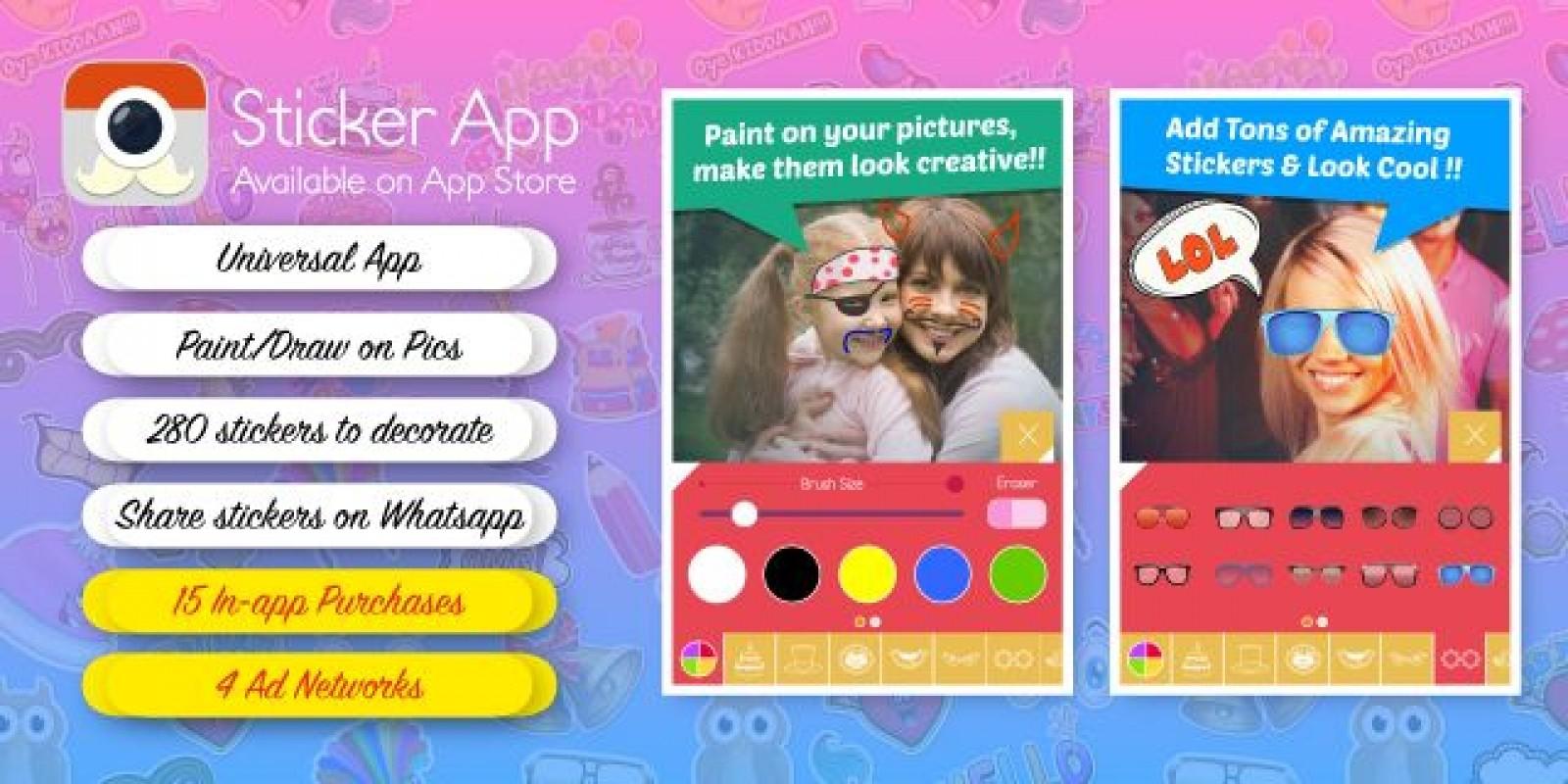 Sticker App - Photo Sticker iOS App Source Code