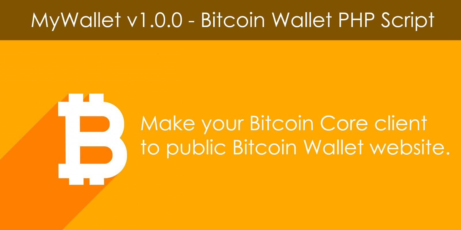 MyWallet - Bitcoin Wallet PHP Script