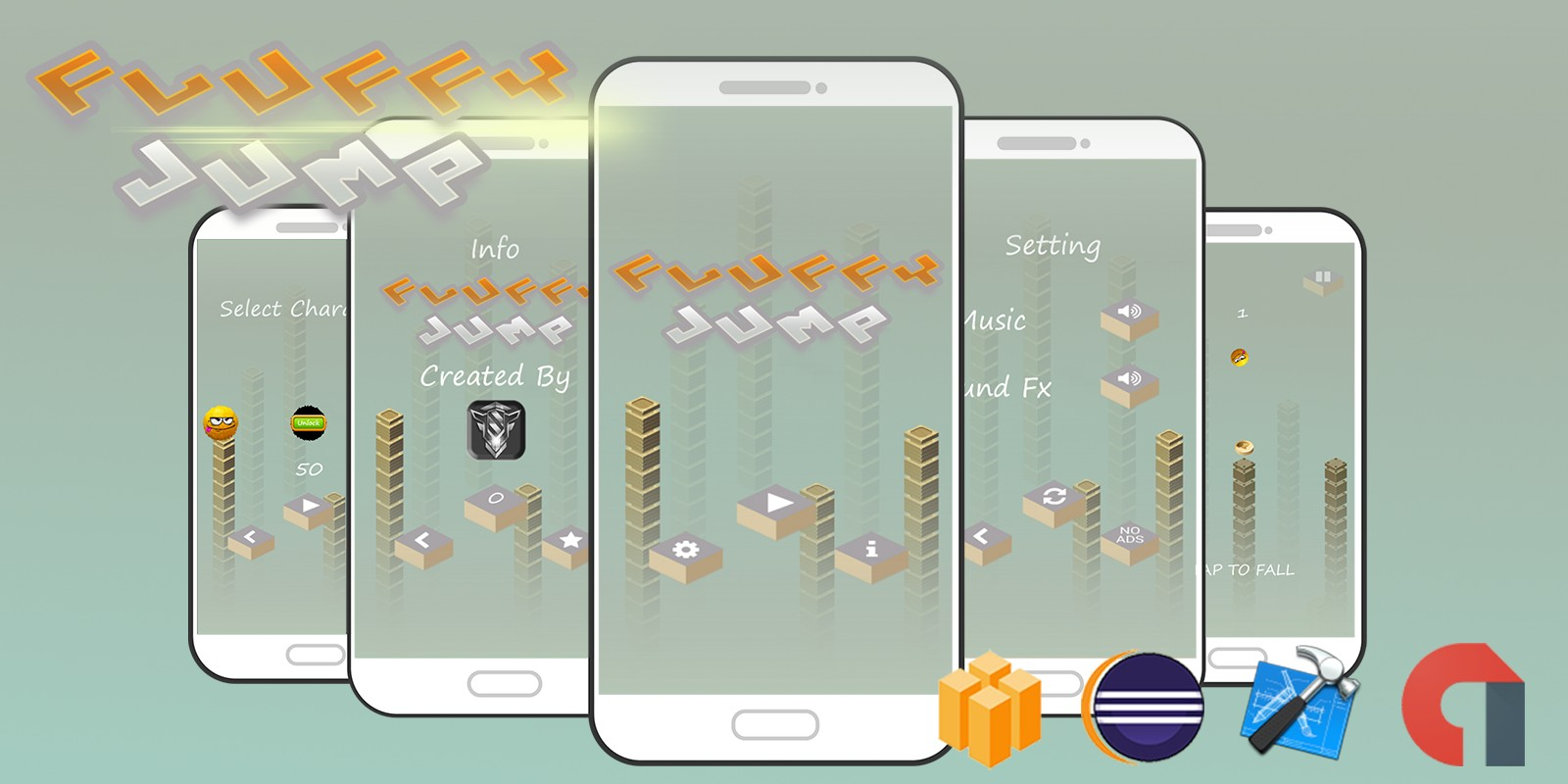 Fluffy Jump - Buildbox Template