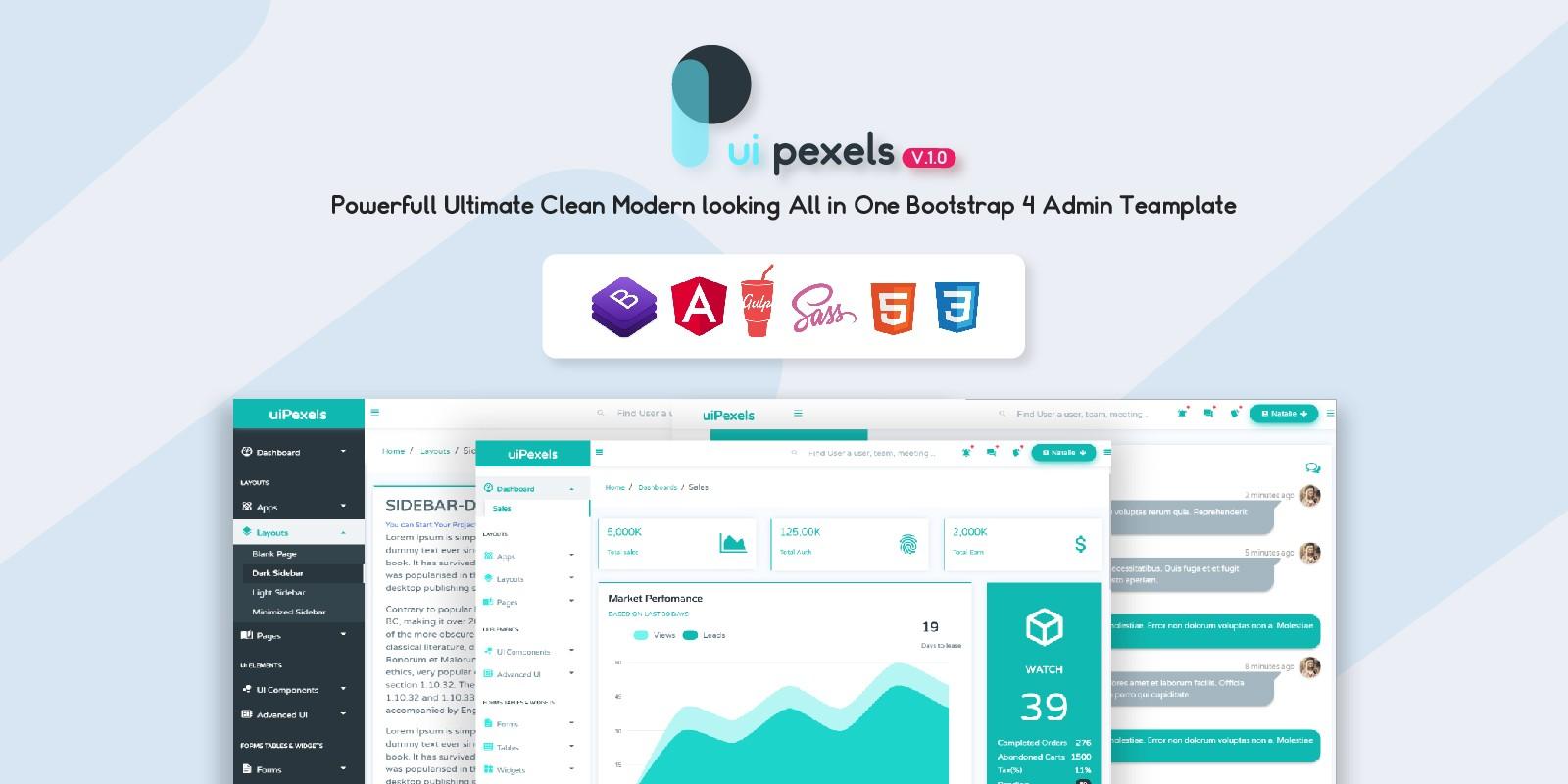 uiPexels - Bootatrap 4 Admin Template