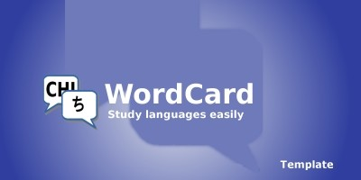 WordCard - Android template