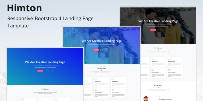 Himton Responsive Bootstrap Landing Page