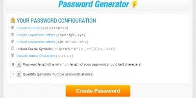 Password Generator PHP Script