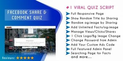 Facebook Share Quiz Script