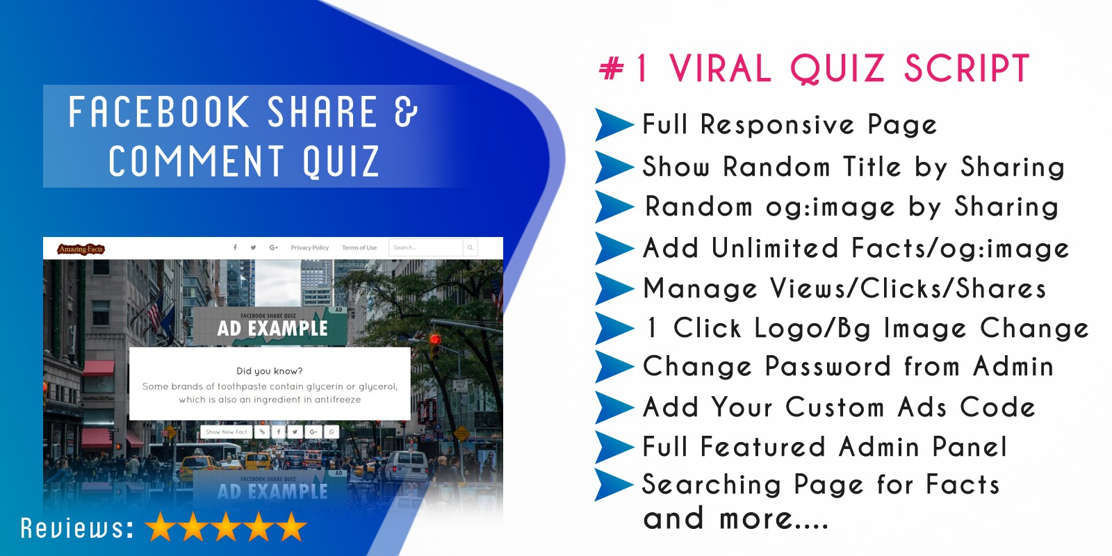 Facebook Share Quiz Script