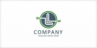 Letter L Circuit Logo