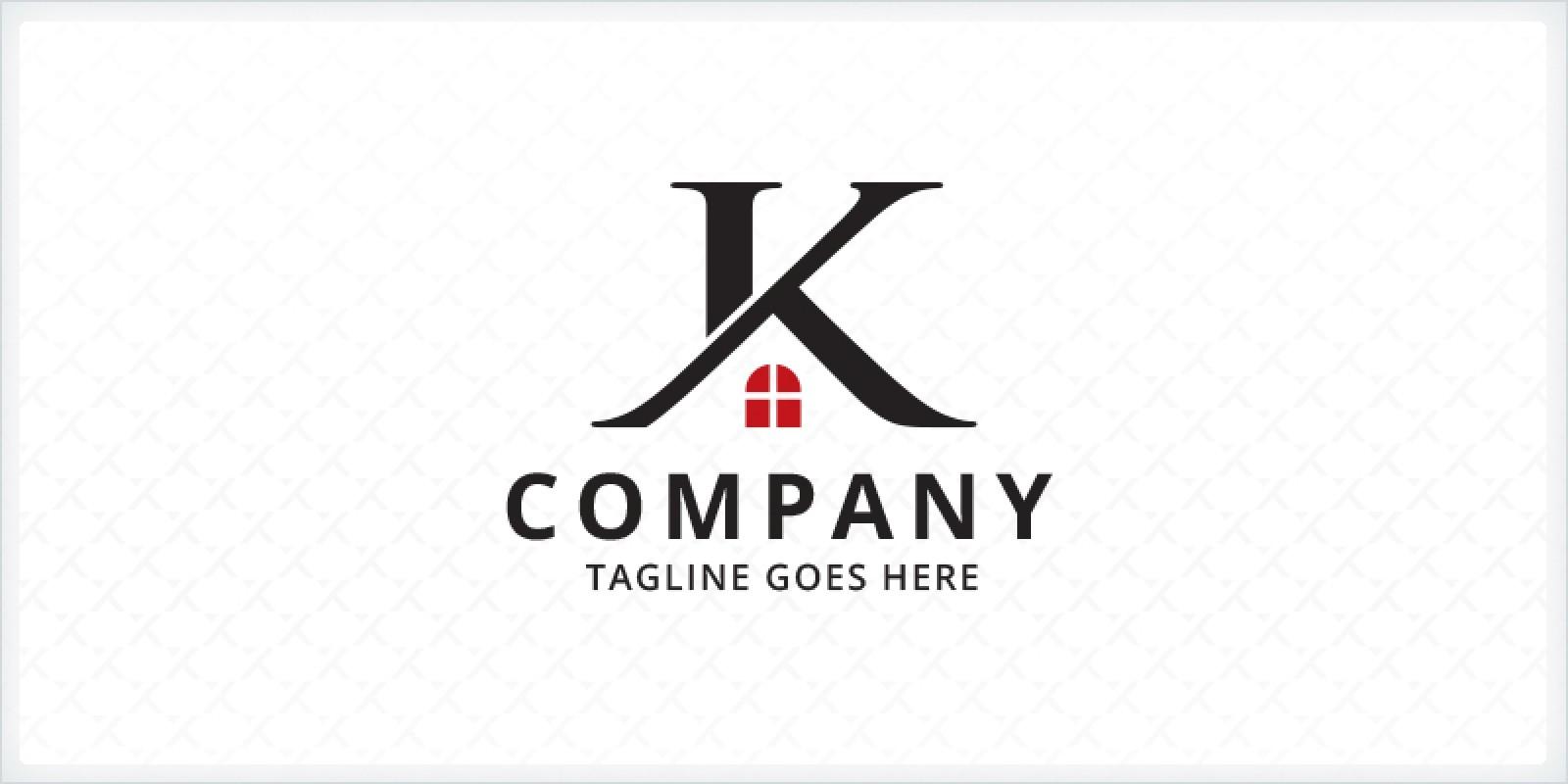 Letter K Home Logo