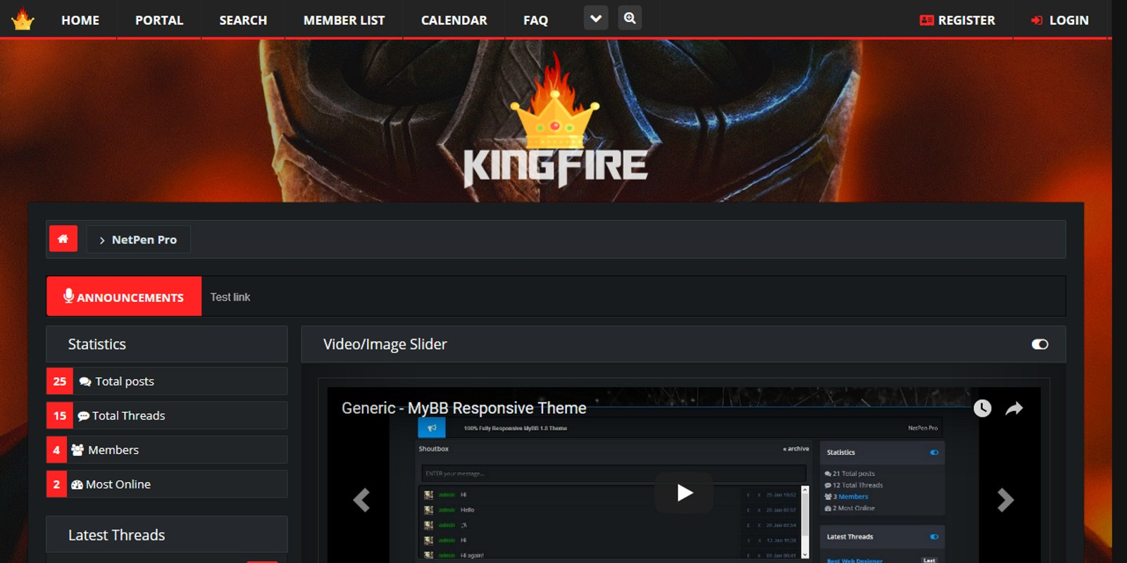 KingFire - Responsive MyBB Theme