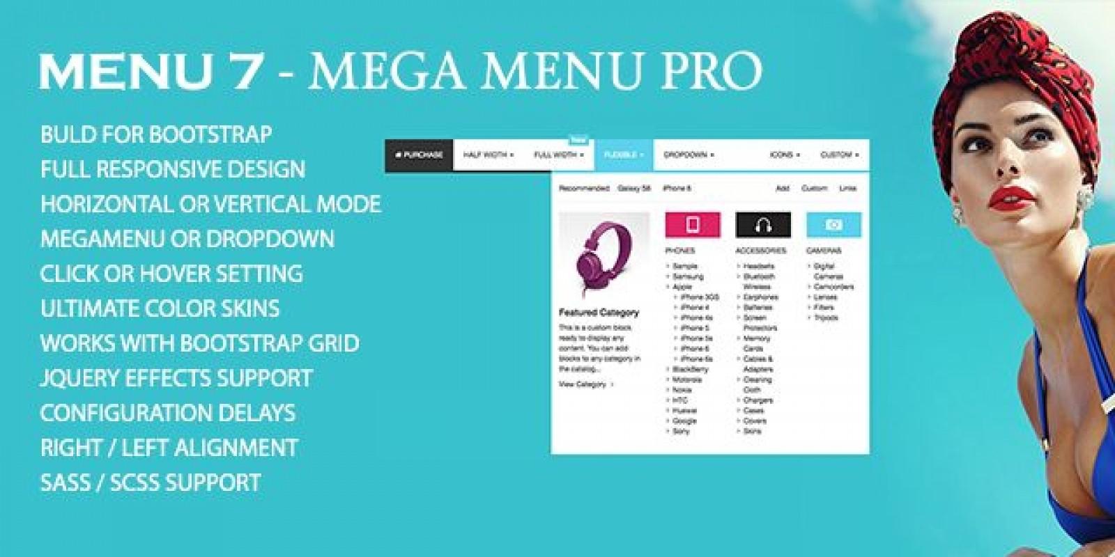 Menu7 -  JQuery Bootstrap Megamenu