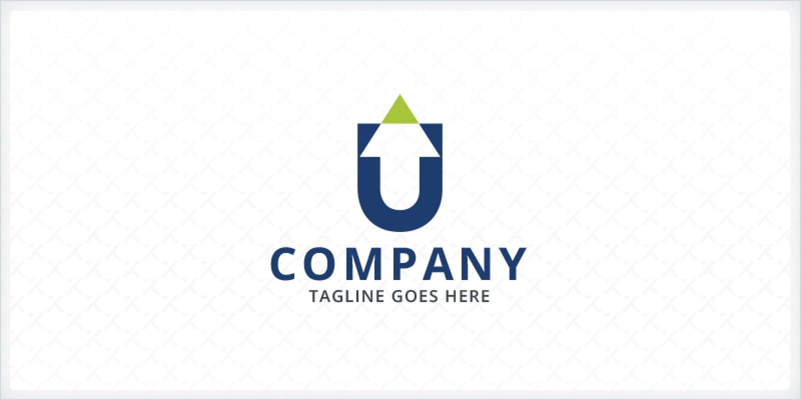 Letter U Arrow Logo
