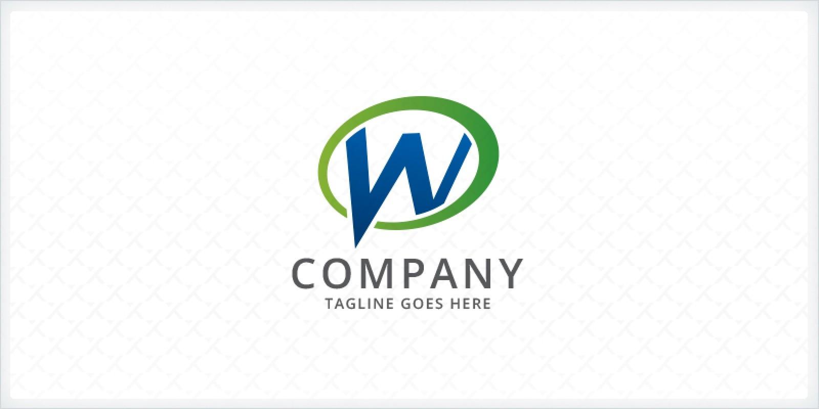 Letter W - Speech Bubble Logo