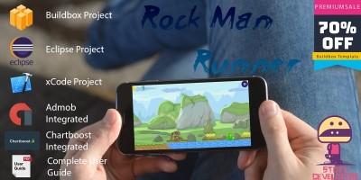 Rock Man Runner - Buildbox Template