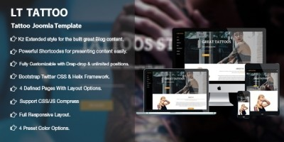 LT Tattoo - Premium Private Tattoo Joomla Template